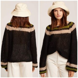 Free People Reach For The Stars Alpaca Sweater S